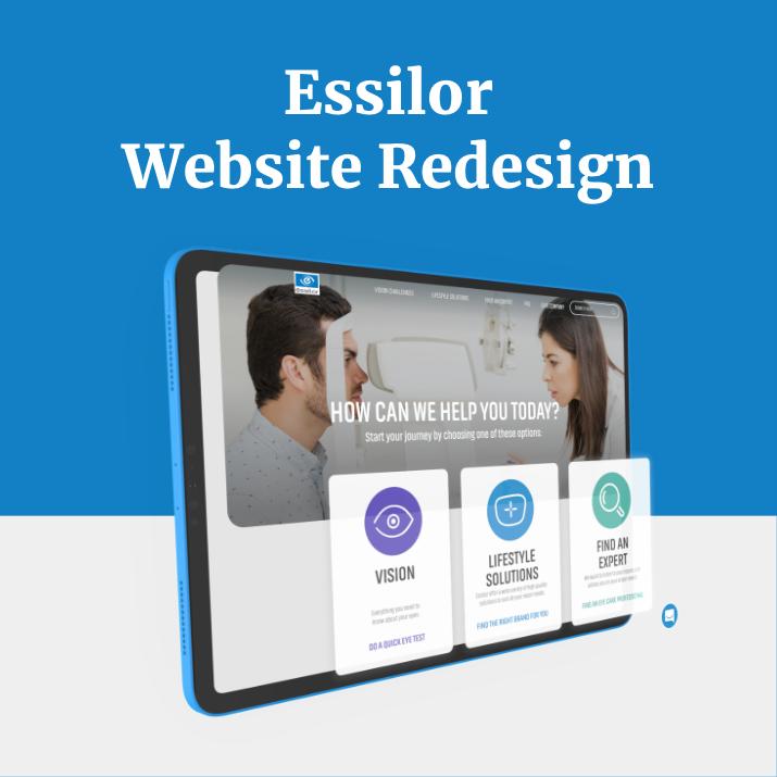 Essilor Website Redesign